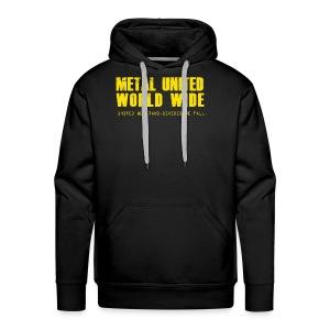 Metal United World Wide (yellow) - Men's Premium Hoodie