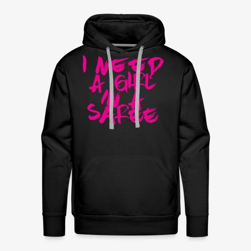 I need a girl in a Saree (pink) - Men's Premium Hoodie