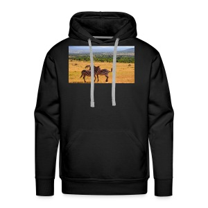 Kenya zebras - Men's Premium Hoodie