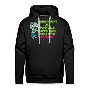 Zombie Doesnt Like Dumb Girls - Men's Premium Hoodie