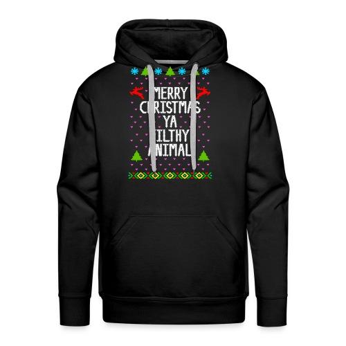 Merry x mas ya filthy animals Full Color - Men's Premium Hoodie