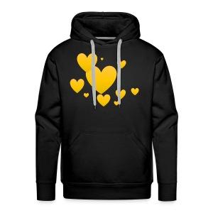 Yellow hearts - Men's Premium Hoodie