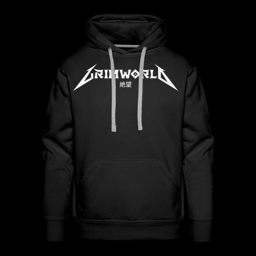 GRIMWORLD LOGO COKE WHITE - Men's Premium Hoodie