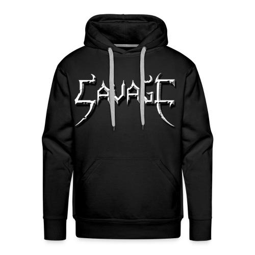 savage logo - Men's Premium Hoodie