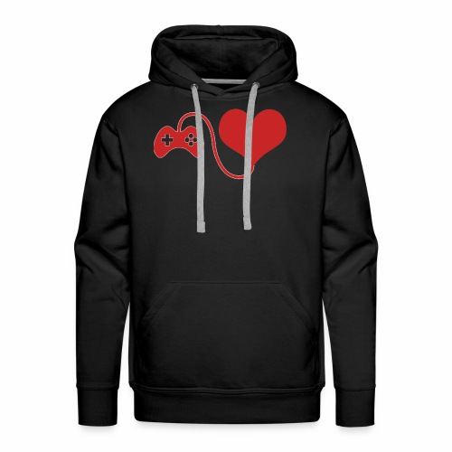 Red Gamer Brand Logo - Men's Premium Hoodie