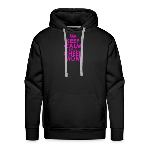 keep calm i m a cheer mom humour logo - Men's Premium Hoodie