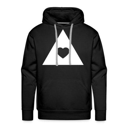 Abstract Love Heart - Men's Premium Hoodie