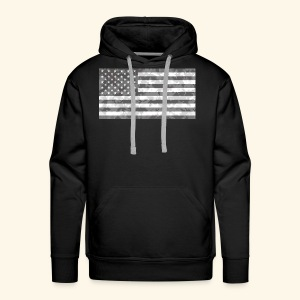 Digi-Camo American Flag - Men's Premium Hoodie