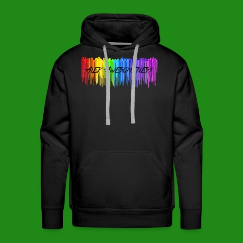 Rainbow Drip AA styled - Men's Premium Hoodie