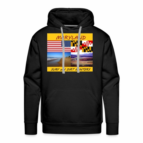 MARYLAND SURF AND DIRT HUNTERS group LOGO LARGE - Men's Premium Hoodie