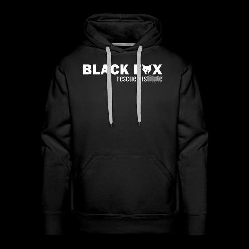 Black Fox Rescue Institute Logo White - Men's Premium Hoodie