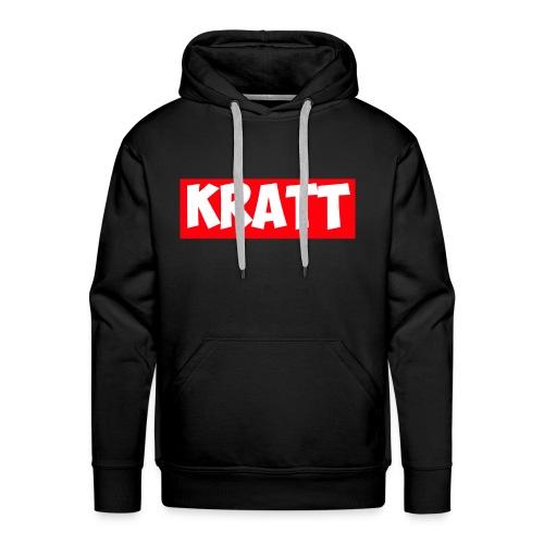 red kratt words - Men's Premium Hoodie