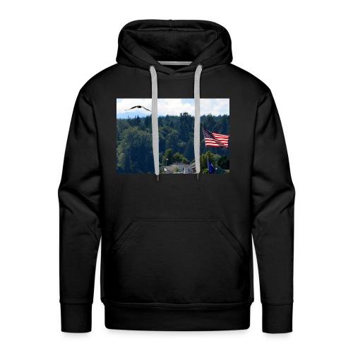 Flag and Eagle - Men's Premium Hoodie