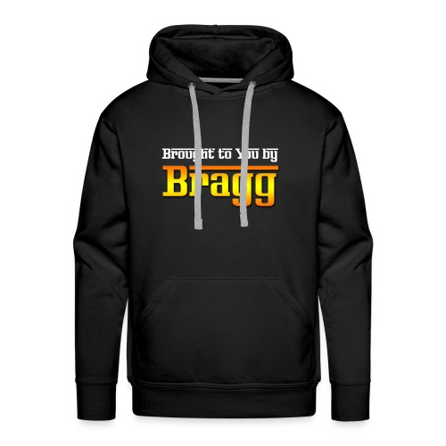 Brought to You by Bragg Logo with White Text - Men's Premium Hoodie