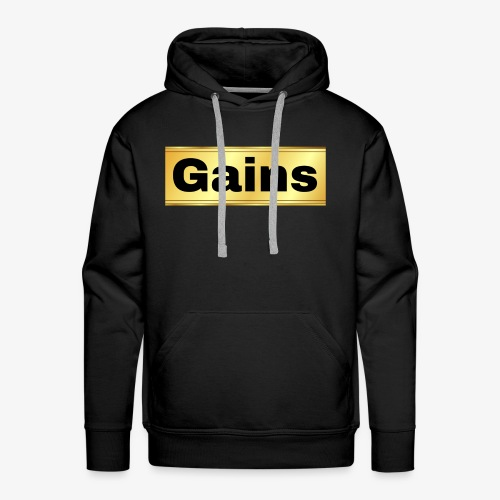 gold gains - Men's Premium Hoodie