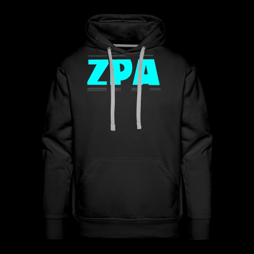 ZACHPLAYZARMY GREY AND TEAL - Men's Premium Hoodie