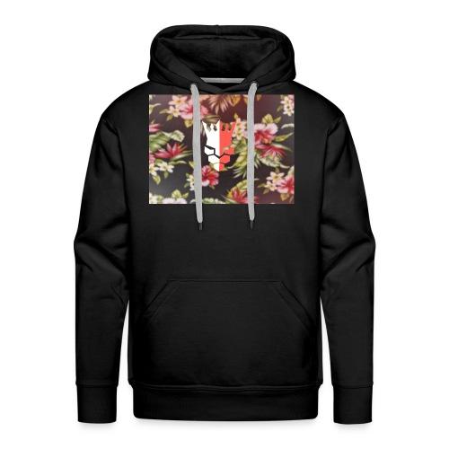 red & white evjay logo - Men's Premium Hoodie