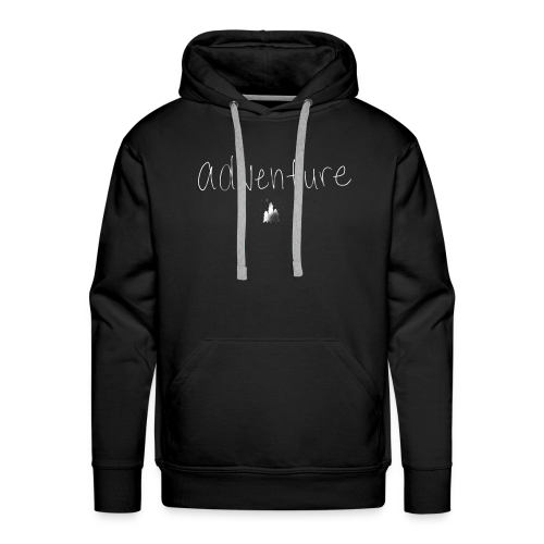 Adventure (use only on black or dark shirt) - Men's Premium Hoodie