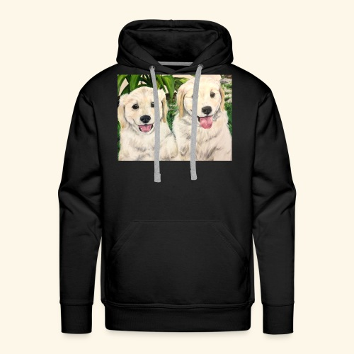 Golden Pups by Kelli Starkey @LACreationsLLC - Men's Premium Hoodie