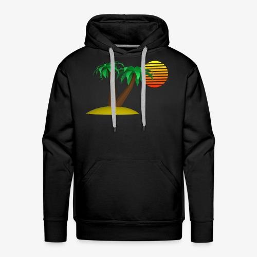 Palm Trees and Sun - Men's Premium Hoodie