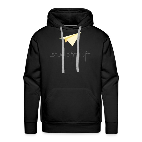studiofreiluft logo design gray font - Men's Premium Hoodie