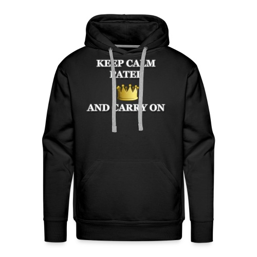 Keep calm Patel and carry on - Men's Premium Hoodie