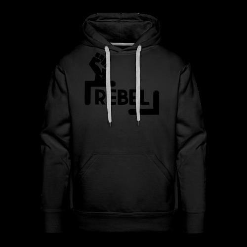 Black Rebel logo - Men's Premium Hoodie