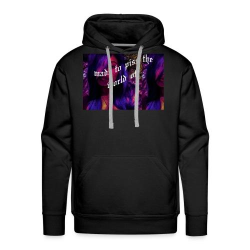 made to piss the world off - Men's Premium Hoodie