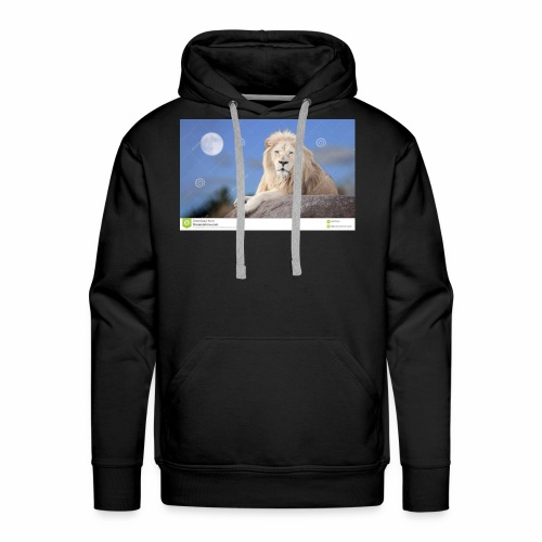 white lion moon light 62073026 - Men's Premium Hoodie