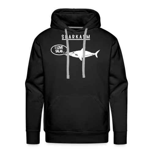 Sharkasm I Love Salad Shark 1 - Men's Premium Hoodie