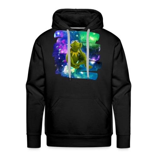 Kermit the frog in the never ending void. - Men's Premium Hoodie