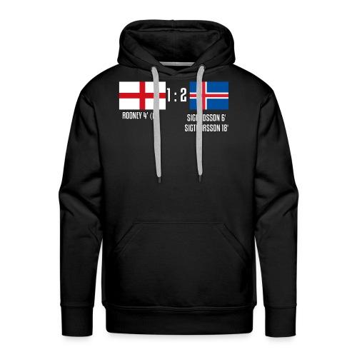 England 1-2 Iceland - Men's Premium Hoodie