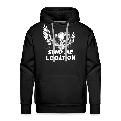 SEND ME LOCATION - Men's Premium Hoodie