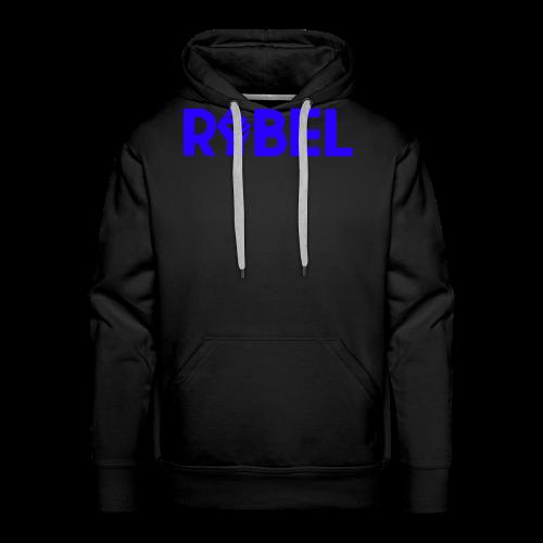 Blue Rebel Text - Men's Premium Hoodie