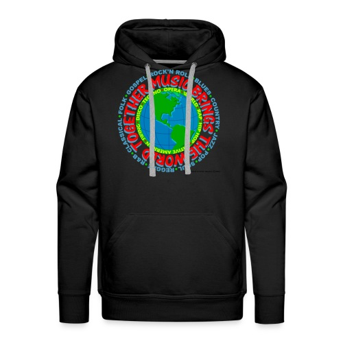 Music Brings the World Together - Men's Premium Hoodie