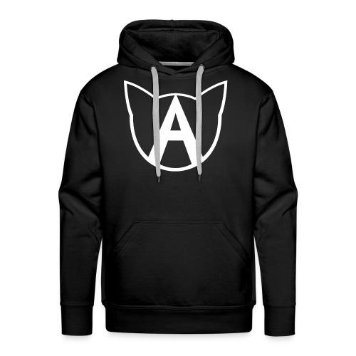 AllycatYT Logo White Outline - Men's Premium Hoodie