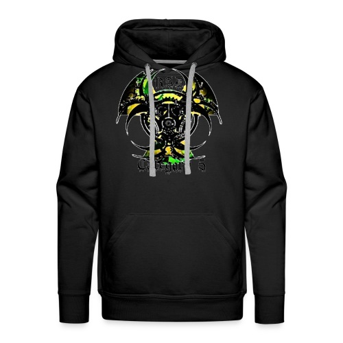 Green n Black logo - Men's Premium Hoodie