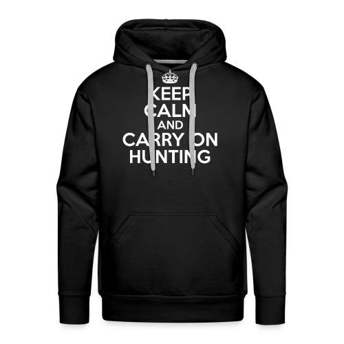 Keep Calm and Carry On Hunting Sweatshirt, Hoodie - Men's Premium Hoodie