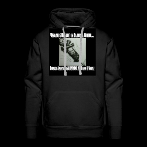 Death's Needle in B&W - Men's Premium Hoodie