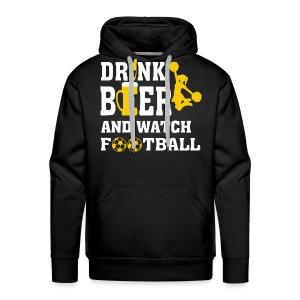 Football and beer - Men's Premium Hoodie