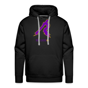 No Boarder Purple R - Men's Premium Hoodie