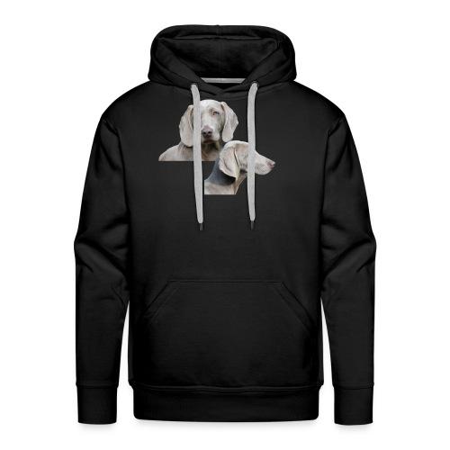 Weimaraner dog - Men's Premium Hoodie