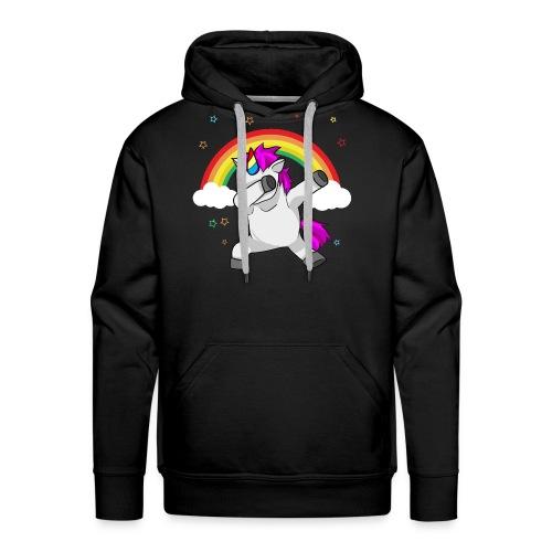 Dabbing Unicorn Funny Dab Dance Rainbow - Men's Premium Hoodie