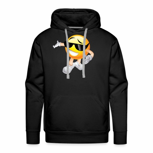 Cool Smiling Face with Sunglasses - Men's Premium Hoodie