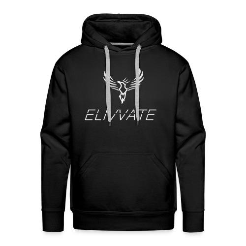 Official White Elivvate Logo - Men's Premium Hoodie
