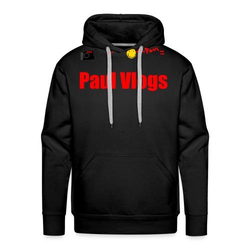 Camera + Paul = Paul Vlogs - Men's Premium Hoodie