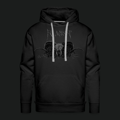 Skull and Roses With Blackest Logo - Men's Premium Hoodie