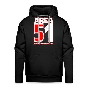 Area 51 T-Shirt Depth Contemplation - Men's Premium Hoodie