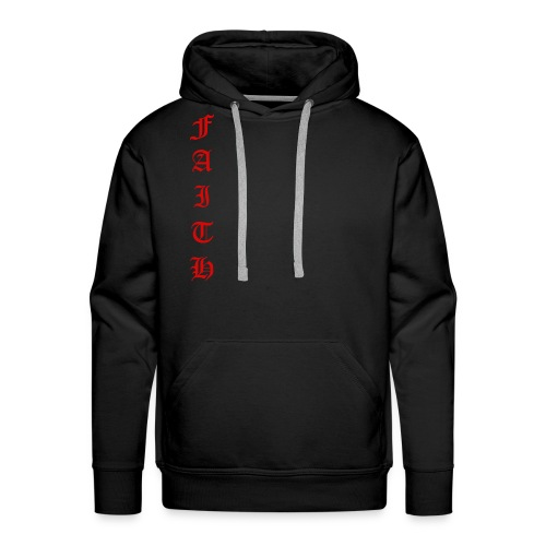 Faith Text - Men's Premium Hoodie