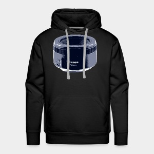 50mm Lens Poster Art Blue - Men's Premium Hoodie